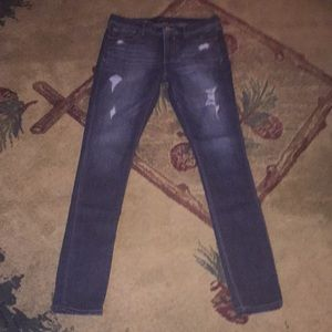 Express distressed legging fit denim. EUC